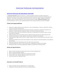 Responsibilities Of An Electrician Electrician Skills Resume