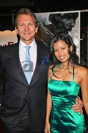 "Sebastian Roche and Ivy Nguyen at the Los Angeles Premiere of ""Beowulf"".  Westwood Village Theater, Westwood, CA. 11-05-07/ImageCollect Royalty Free  Stock Image 