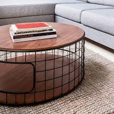 modern small coffee table with storage