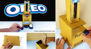 How Much Can You Make From A Vending Machine Best How To Make OREO Vending Machine Out Of Cardboard Craft Community