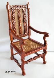 cane back armchair walnut