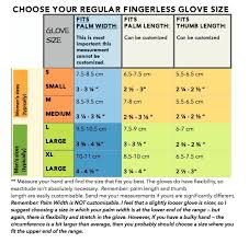 Average Hand Size Chart Hand Measurements For Sizing Of Convertible Mitten Gloves