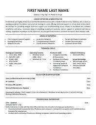 Ccna Resume Format Junior Administrator Mcse Ccna Resume Format