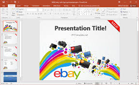Office Powerpoint Template Free Ebay PowerPoint Template 18