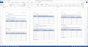 Plan Templates In Word Availability Plan MS Word Template 17