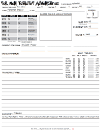 pokemon tabletop character sheet eagle time pokemon tabletop rpg its aliiiive