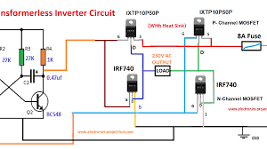 Inverter Circuit Design Using Mosfet Simple Transformer Less Inverter Circuit 1000 Watt Diy