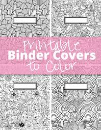 Print Binder Printable Binder Covers To Color Free Download For Back To