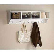 Entryway Shelf And Coat Rack Amazon White 100 Ft Entry Hall Shelf with 100 Cubby and 100 Hook Coat 18