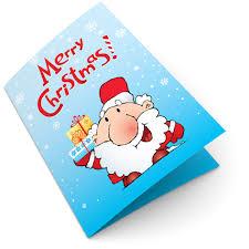 Happy Santa Claus Christmas Card Template Design Id