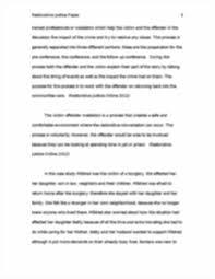 restorative justice paper ind final week restorative justice image of page 3