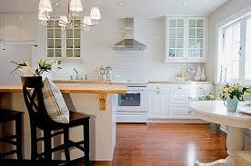 Green Tile Backsplash Kitchen Glass Subway Tile Kitchen Wooden Cabinet Built In Oven Cylinder