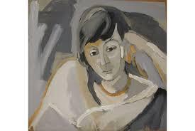 anna walinska portrait of a woman 1956 oil on paper 18x18