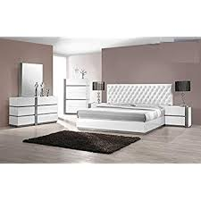 Amazon.com: Modern Seville 4 Piece Bedroom Set Eastern King Size Bed ...
