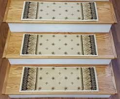 dimensions ivory carpet stair treads 166524 33in x 9in set of 14