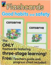Safety Habits Chart Educat Flashcards Good Habits And Safety For Kids Buy