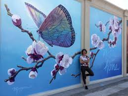 nature is home mural in yingtan china  on hand painted wall murals artist with mural in china morgan mural studios