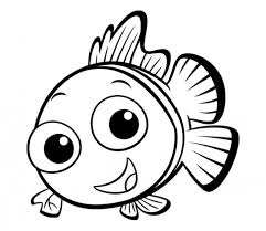 Small Picture Simple Kid Preschool Coloring Pages Fish Animal Coloring pages