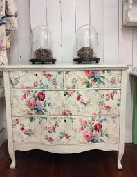 how to wallpaper furniture. dresser with vintage wallpaper drawers at summer cottage antiques in petaluma ca how to furniture f