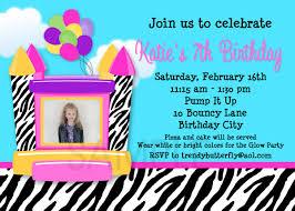 bounce house birthday invitations net printable birthday invitations girls bounce house party invitation birthday invitations