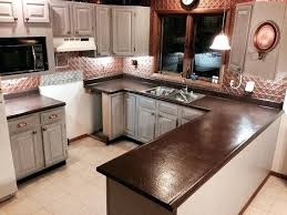 on painted kitchen cabinets and counter tops completed project minus the new flooring how to refinish formica countertops refinishing look like granite