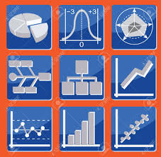 Different Types Of Charts And Graphs Set Of Icons With Different Types Of Charts And Graphs