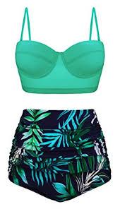 Aixy Womens Swimsuits Underwired Push Up Bikini Top