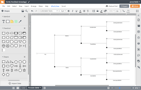Pedigree Chart Maker Circles And Squares Family Tree Generator Lucidchart