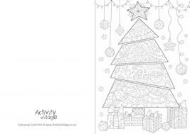This is a cute free printable card with a message of merry christmas and image of a santa standing with his gift bag. Christmas Colouring Cards