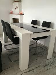 Esstisch Schwarzweiß Mit Schwarzen Stühlen In 42697 Solingen Für