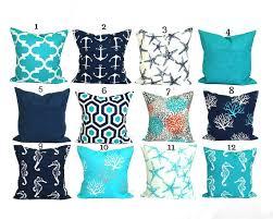 BLUE OUTDOOR PILLOWS Blue Pillow Covers Blue Decorative