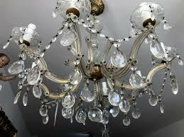 8 Flammiger Glasluster Deckenleuchter Kronleuchter Maria Theresia X2328