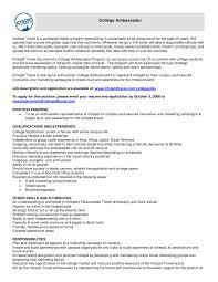 11 Brand Ambassador Objective Resume Riez Sample Resumes Riez