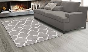 sweet home s king collection moroccan trellis design area rug 5 3 x 7 0 grey wantitall