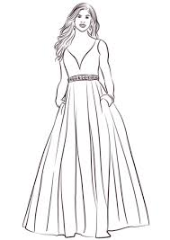 Print them all and have a fun wedding day. Ball Gown Coloring Page Free Printable 1390294 Png Images Pngio