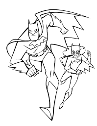 Batgirl On Roof Coloring Pages Batgirl Coloring Pages Batman