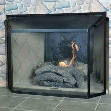 um graphite powdercoat spark guard fireplace screen 39 1 2 w x