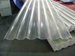 image of clear corrugated roofing fiberglass