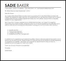 retail merchandiser cover letter sample retail covering letter