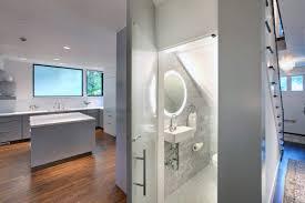 modern half bathroom ideas. under staircase modern half bath ideas bathroom