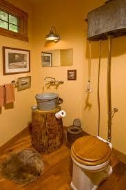 Land Rustikale Badezimmer Design Idee Mit Natürliches Holz