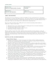 Resume For Administrative Assistant Beauteous Job Description Medical Administrative Assistant Office Assistant