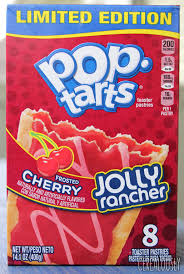 kellogg s frosted cherry jolly rancher pop tart review box