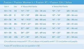 Donjoy Knee Brace Size Chart Fusion Knee Brace Breg Inc