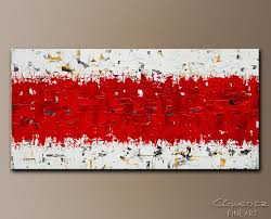 hashtag red abstract art painting image by carmen guedez