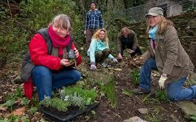 community gardening. Brilliant Gardening Sara Venn In Red And Helpers Get Started For Community Gardening T