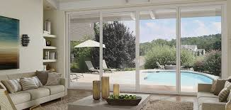 tuscany series vinyl 4 panel sliding patio door with smarttouch handle
