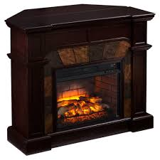 cartwright faux stone corner infrared fireplace espresso by sei