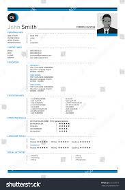 Curriculum Vitae Resume Design Everyone Stock Vector 123123013