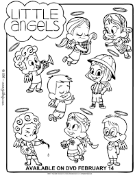 Small Picture Little angels differences game coloring pages Hellokidscom